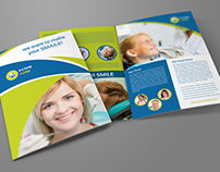 Dental Clinic Bi-Fold Brochure Template