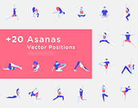 Yoga Poses Vectors