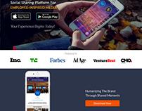Culturesphere Website For Mobile App Promotion