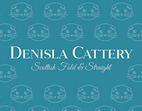 Denisla Cattery Scottish Fold & Straight Brand Identity