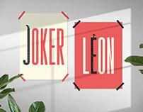 Joker & Leon Movie Typography Posters