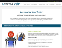 Teeter Website Pages - Design & Development