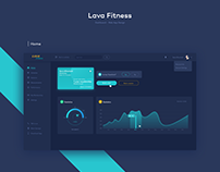 Lava Fitness - Dark Dashboard
