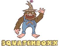 Squatchboxx Branding Illustration and logo
