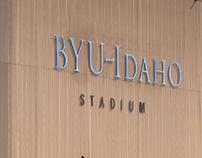 BYU-Idaho Stadium Lettering
