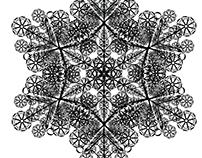 Letterform Snowflakes