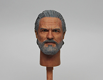 1/6 Jeff Bridges‬ Head Sculpt Painting