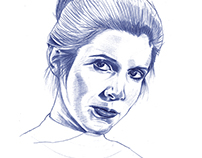 Princess Leia | Blue Graphite