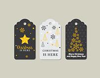 Christmas labels vector art