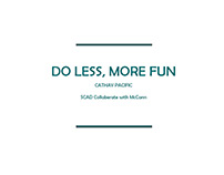 AD | Cathay Pacific -Do Less, More Fun