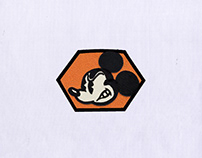 AGITATED MICKEY MOUSE EMBROIDERY DESIGN