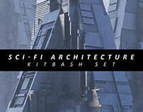 Sci-Fi Architecture Kitbash Set