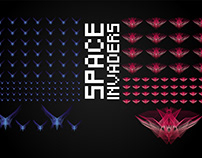 Space invaders in Blend Mode