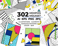302 illustrations+elements+patterns+FREE