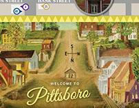 Map of Pittsboro