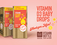 D3 Vitamin - package design for Vitamin Bottle