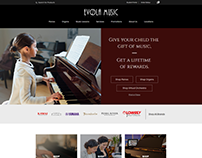Evola Music - Web Design