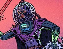 「星際大戰 : 鐳射龐克」插畫, 設計   Star Wars: Raypunk
