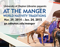 At The Manger 2014 postcard, print and digital ads