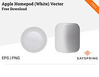 Apple HomePod Vector (White) Free Download
