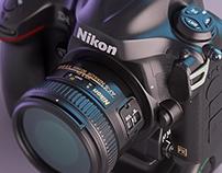 Nikon D4 - Photorealistic 3D Render