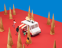 Papercraft Icetruck