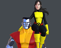 Kitty Pride and Colossus