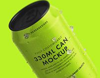 Beverage Can Mockup+Free Version