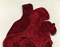 Quilled Human Heart