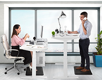 Office Furniture with models