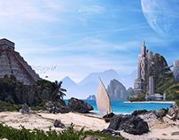 Paradise Bay - Desktopography 2016