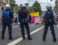 Demonstration pro Refugees, Helvetiaplatz, Zürich