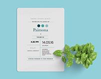 Paimona - Invitation Design