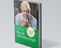 Life On Air. David Attenborough. Book cover design