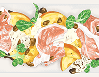Asia Food News illustrations