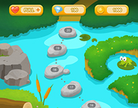 Puzzle Game GUI&BG 'Pond Theme'