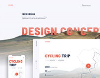 Web design concept for a travel website