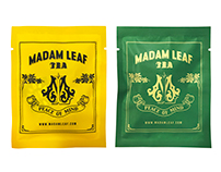 """MADAM LEAF"" Tea package design"