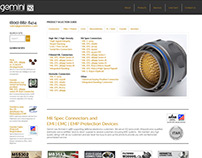 Distributor Website - Gemini Electronics
