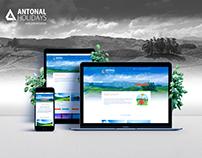ANTONAL HOLIDAYS WEBSITE DESIGN