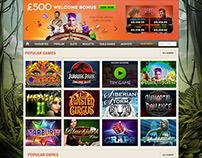 Slots/Casino Homepage Concept