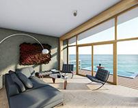 Sea house interior design