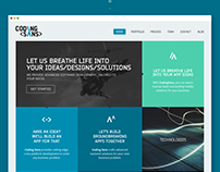 CODING SANS // Website redesign