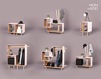 NOM+ADD Furniture System Project for a Modern Nomad