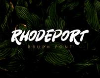 Rhodeport | Brush Font (Free Demo Version)