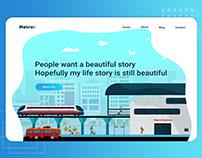 Metro landing page web UI/UX
