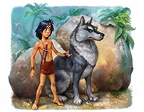 "Mowgli. Illustrations for the ""Dreamsland"" book"