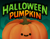 Halloween Pumpkin Face Mock-Up
