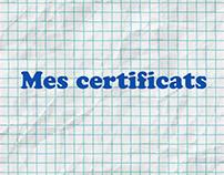 Mes certificats