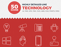 JI-Technology Line Icons Pack